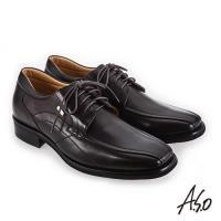 A.S.O 菁英通勤 柔軟羊皮寬楦真皮鞋-咖啡