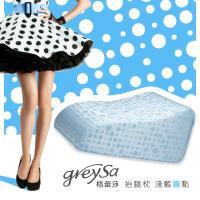 GreySa格蕾莎-抬腿枕_淺藍圓點