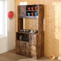Buyjm 低甲醛復古風居家雙層廚房櫃 電器櫃 收納櫃
