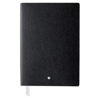 MONTBLANC 萬寶龍 真皮筆記本 - A5橫線/黑色 113294