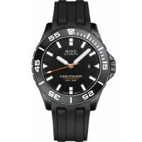 MIDO美度 海洋之星600米陶瓷潛水錶(黑/43mm) M0266083705100