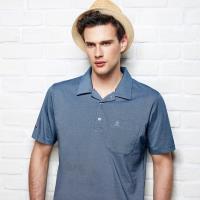 Spar吸濕排汗男版短POLO衫S198214藍色