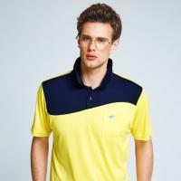 Londa Polo雙細條紋布男版短POLO衫P198207亮黃色