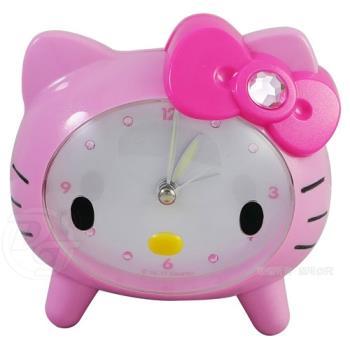 Hello Kitty貓臉趴式音樂貪睡鬧鐘