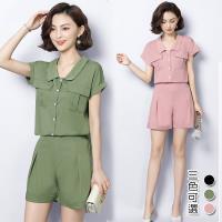 型-韓國K.W. (預購) 簡約造型美背收腰套裝