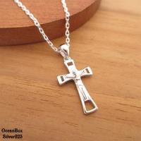 【海洋盒子】聖潔守護。精緻耶穌十字架925純銀單墜