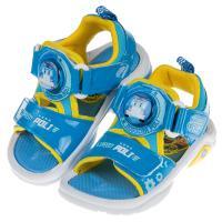 《布布童鞋》POLI救援小英雄波力藍色全開兒童電燈涼鞋(15~19公分) [ B9L126B ]