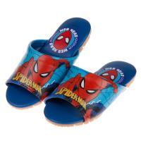 《布布童鞋》Marvel英雄系列蜘蛛人藍色兒童室內拖鞋(16~22公分) [ B9F006B ]