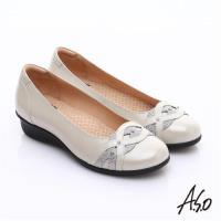 A.S.O 舒適通勤 水鑽奢華通勤鞋- 白