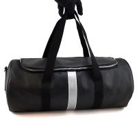 DIOR HOMME 黑色Logo防水帆布肩背旅行袋(展示品)