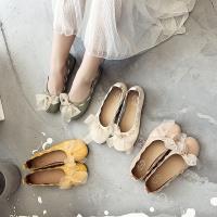 【Alice 】 (預購) 舒適休閒韓版新款清新森林系配紗裙緞帶娃娃鞋