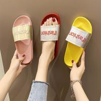 【Alice 】 (預購) 亮面INS夏季新款海灘沙灘潮街頭平底拖鞋