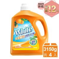 白帥帥 天然橘油抗菌洗衣精3150gx4瓶