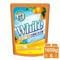白帥帥 天然橘油抗菌洗衣精補充包1650gx6包