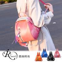 【iRurus 路絲時尚】韓系街頭時尚可拆卸單肩設計貝殼雙肩包/4色 (YL0050-MM437)現+預