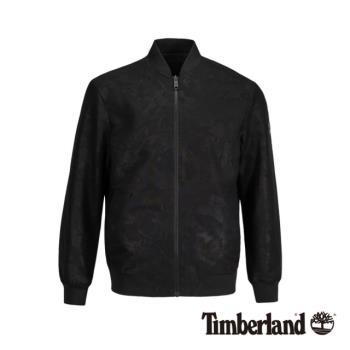 Timberland男款黑色燙印兩面穿飛行夾克A1XWV001