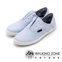 WALKING ZONE果漾YOUNG純棉帆布鞋休閒鞋 女鞋-淺藍(另有黑/白/粉/藍)