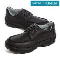 SAPATOTERAPIA 巴西舒適寬板綁帶有機休閒鞋-黑