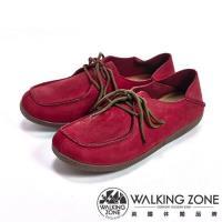 【WALKING ZONE】可踩式雙穿休閒女鞋-紅(另有藍、棕)