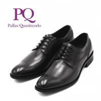 PQ 擦色工藝真皮尖頭皮鞋 男鞋-黑(另有深咖)
