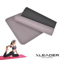Leader X 雙層防滑加強 環保SBS瑜珈墊8mm 深灰