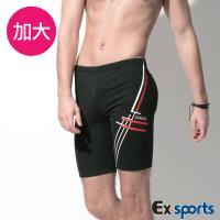 Ex-Sports亞克仕 七分平口加大泳褲(M-EL)18306