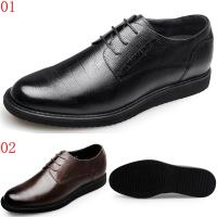 GOG高哥小方格統包系帶商務休閒鞋兩色可選WX488401黑/WX488402棕6CM口JHS杰恆社1907(預購)