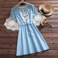 韓國K.W. (預購) 學院風淘氣俏皮卡通印花洋裝