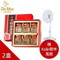 DeMon_冰糖燕窩(65g*6瓶)X2盒_贈Kolin歌林14吋DC無線遙控風扇