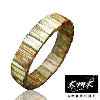 KMK天然寶石【48.5g】滿絲直絲天然鈦晶-手排