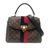 【Louis Vuitton】GEORGES MM 帆布簇絨雙條紋手提/肩背二用包 (M43778)