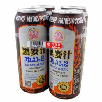 量販名店【崇德發】黑麥汁500ml*4入組