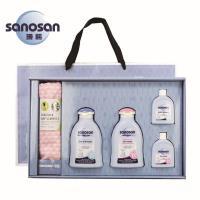 德國sanosan珊諾-baby喜迎新生呵護包巾禮盒