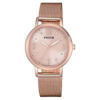【CITIZEN 星辰】WICCA 廣告款太陽能米蘭腕錶-粉(KP5-166-91)