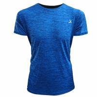 EGXtech男單導排汗短袖(ET2麻藍色)+Hypercool 涼感巾(S)