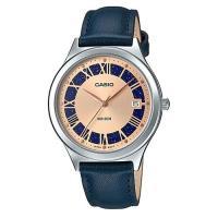 【CASIO 】迷人漫天繁星玫瑰粉x藍皮革錶(LTP-E141L-2A2)