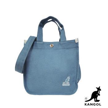 KANGOL 韓版極簡玩色-MINI牛仔斜背小方包-淺藍 AKG1215