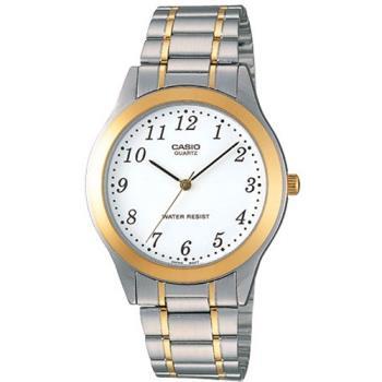 【CASIO 】高雅簡約休閒腕錶-金圈X白面(MTP-1128G-7B)