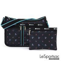 LeSportsac - Standard雙口袋A4大書包-附化妝包 (火烈鳥/黑)