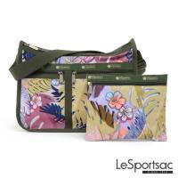 LeSportsac - Standard雙口袋A4大書包-附化妝包 (棕櫚海灘)