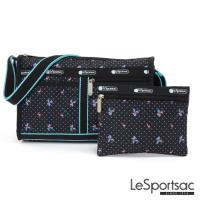 LeSportsac - Standard雙口袋斜背包-附化妝包(火烈鳥/黑)