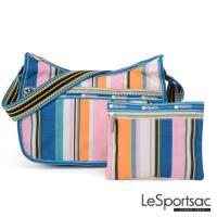 LeSportsac - Standard側背水餃包/流浪包-附化妝包 (夏日條紋)