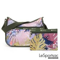 LeSportsac - Standard側背水餃包/流浪包-附化妝包 (棕櫚海灘)