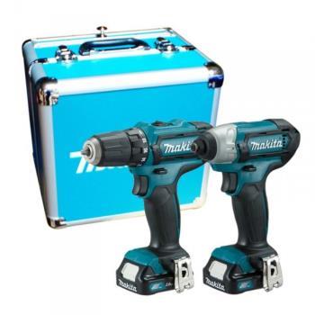 MAKITA牧田 CLX201SX1 12V充電式起子電鑽+衝擊起子機雙主機超值套裝組