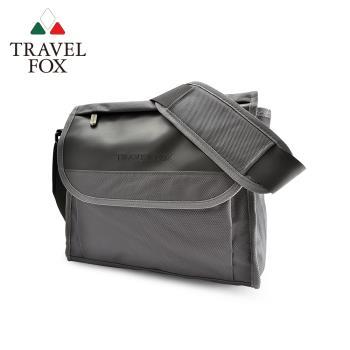 TRAVEL FOX 旅狐 簡約商務鑽紋公事包/側背包 (TB599-13) 灰色