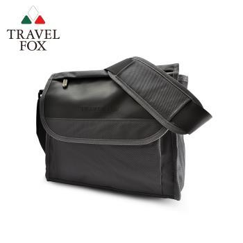 TRAVEL FOX 旅狐 簡約商務鑽紋公事包/側背包 (TB599-01) 黑色