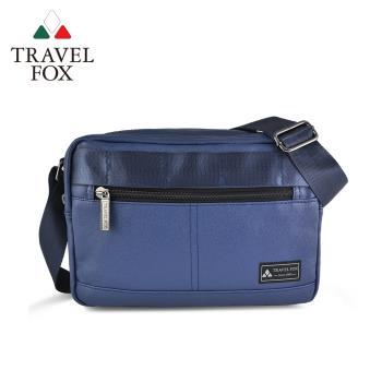 TRAVEL FOX 旅狐 輕巧雙料防撥水帆布側背包 (TB700-47)藍色