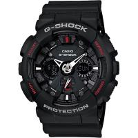 CASIO 卡西歐 G-SHOCK 重機雙顯手錶-紅黑 GA-120-1A