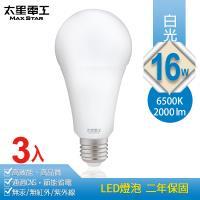 太星電工 16W超節能LED燈泡(3入) 白光/暖白光