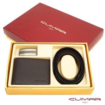 【CUMAR】二件式皮件禮盒-皮夾+皮帶-14